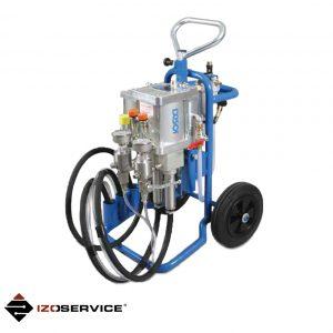 Dwukomponentowa pompa pneumatyczna DESOI AirPower M25-3C VA do iniekcji ciśnieniowej i iniekcji