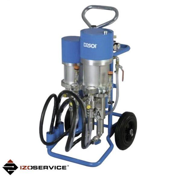 Pneumatyczna pompa dwukomponentowa Desoi Pn1412 do iniekcji ciśnieniowej