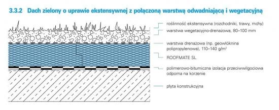 dachy zielone zazielenienie ekstensywne
