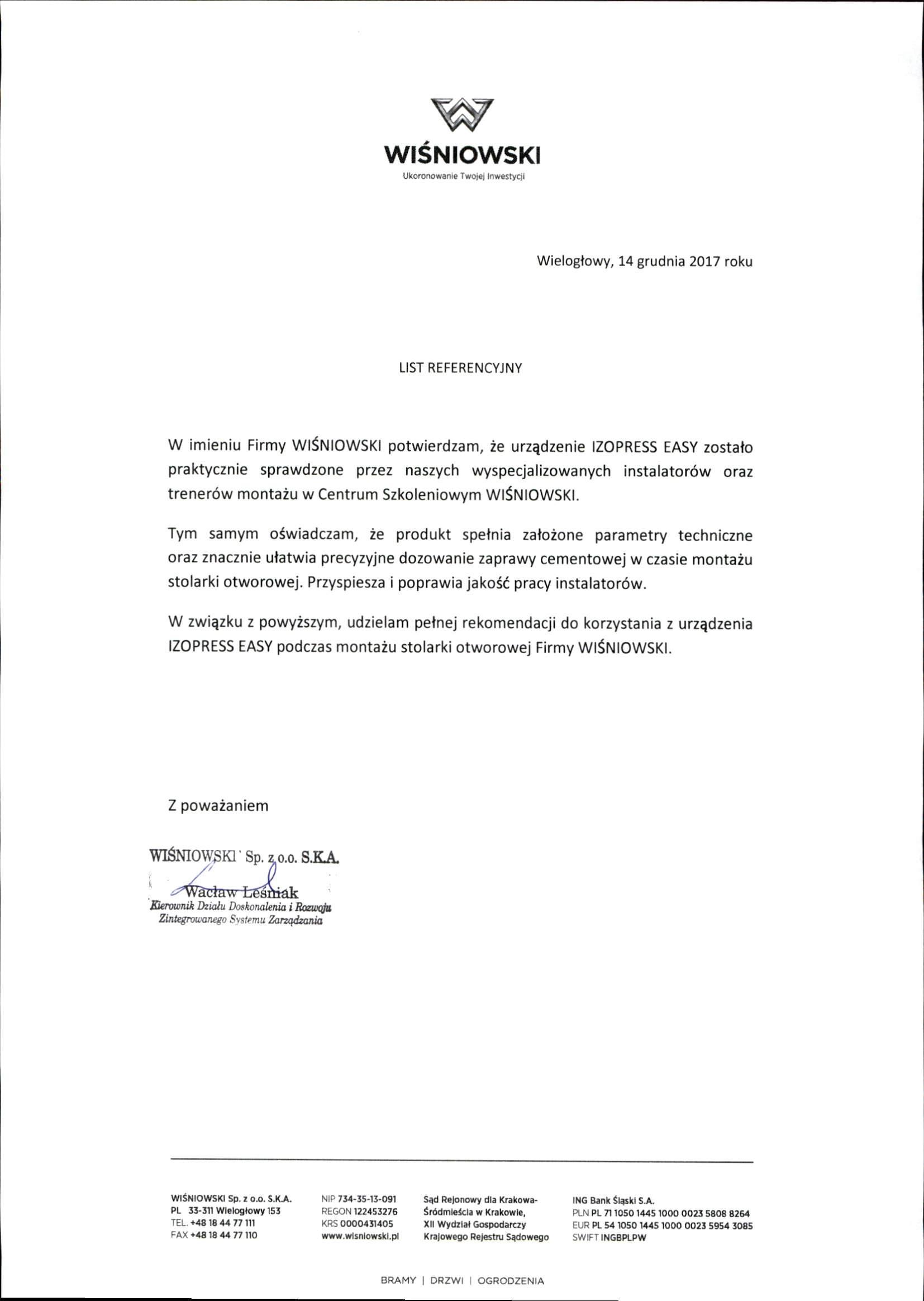 List_referencyjny_WIŚNIOWSKI